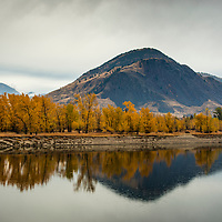 The south shore of the Fraser River in Kamloops B.C. just upstream of where the proposed Kinder Morgan Trans Mountain Pipeline would cross the river underwater.