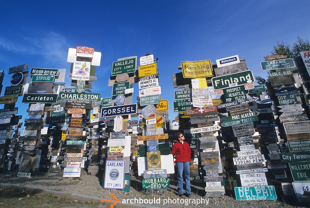 Signposts at Watson Lake, Yukon