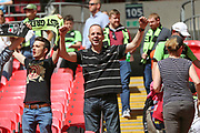 Long term supporter Andy Whitman at Wembley during the Vanarama National League Play Off Final match between Tranmere Rovers and Forest Green Rovers at Wembley Stadium, London, England on 14 May 2017. Photo by Shane Healey.