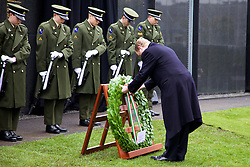 The Interfaith Service and Unveiling of Necrology Wall, Glasnevin Cemetery, Sunday 3 April 2016.<br /> An Taoiseach Enda Kenny TD.