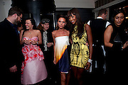 KATIE GRAND; VICTORIA BECKHAM; NAOMI CAMPBELL, Dinner hosted by editor of British Vogue, Alexandra Shulman in association with Net-A-Porter.com in honour of 25 years of London Fashion Week and Nick Knight. Caprice. London.  September 21, 2009