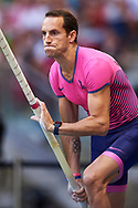 Poland, Warsaw - 2017 August 15: Renaud Lavillenie from France competes in men's pole vault during Memorial of Kamila Skolimowska at Stadion PGE Narodowy on August 15, 2017 in Warsaw, Poland.<br /> <br /> Mandatory credit:<br /> Photo by © Adam Nurkiewicz<br /> <br /> Adam Nurkiewicz declares that he has no rights to the image of people at the photographs of his authorship.<br /> <br /> Picture also available in RAW (NEF) or TIFF format on special request.<br /> <br /> Any editorial, commercial or promotional use requires written permission from the author of image.