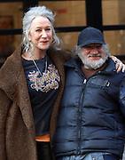 Apr 01, 2016 - New York, NY, USA - Actors Will Smith and Helen Mirren on the set of the new movie 'Collateral Beauty' <br />