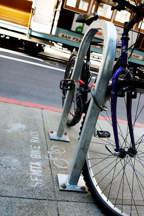 Bikes locked up at SFMTA Bike Racks | June 2012
