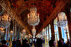 The galerie des glaces (Hall of Mirrors in English), is perhaps the most celebrated room in the Palace of Versailles.