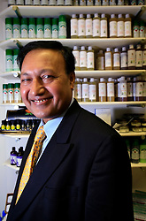 UK ENGLAND LONDON 10NOV08 - Dr Mosaraf Ali, director of Intetrated Medical Centre poses for a portrait at his practice. Dr Ali is a proponent of alternative healing methods including Yoga, massage, diet and relaxation...jre/Photo by Jiri Rezac..© Jiri Rezac 2008..Contact: +44 (0) 7050 110 417.Mobile:  +44 (0) 7801 337 683.Office:  +44 (0) 20 8968 9635..Email:   jiri@jirirezac.com.Web:    www.jirirezac.com..© All images Jiri Rezac 2008 - All rights reserved.