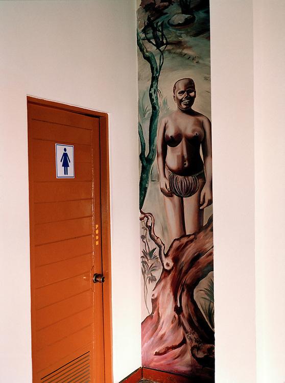 Jawara murals at the Fortune Resort, Port Blair