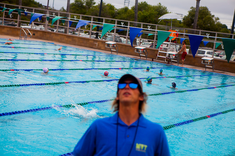 Swimmers from the Mission Valley YMCA Seals practice on Monday afternoon. Many of the team members also swim for local high schools.