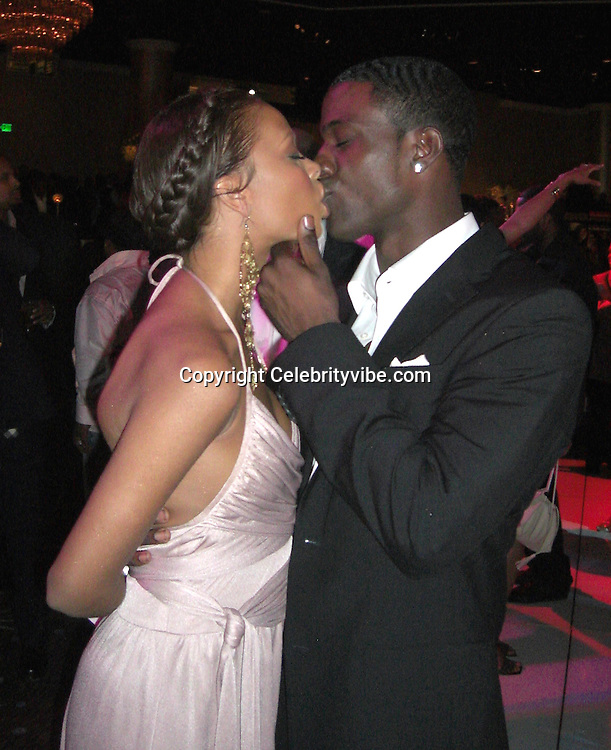 **EXCLUSIVE**.America's Next Top Model, Eva Pigford with her boyfriend Lance Gross.Black Enterprise Magazine Celebrates Oscar Week with an All-Star Gathering.Beverly Hilton Hotel.Beverly Hills, CA, USA.Wednesday, February 20, 2008.Photo By Celebrityvibe.com.To license this image please call (212) 410 5354; or.Email: celebrityvibe@gmail.com ;.website: www.celebrityvibe.com