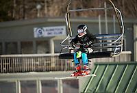 Piche Invitational Slalom U12 girls 1st run Sunday, March 17, 2013.  Karen Bobotas Photographer