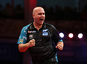 Rob Cross during the last 8 of the World Matchplay Darts 2019 at Winter Gardens, Blackpool, United Kingdom on 26 July 2019.