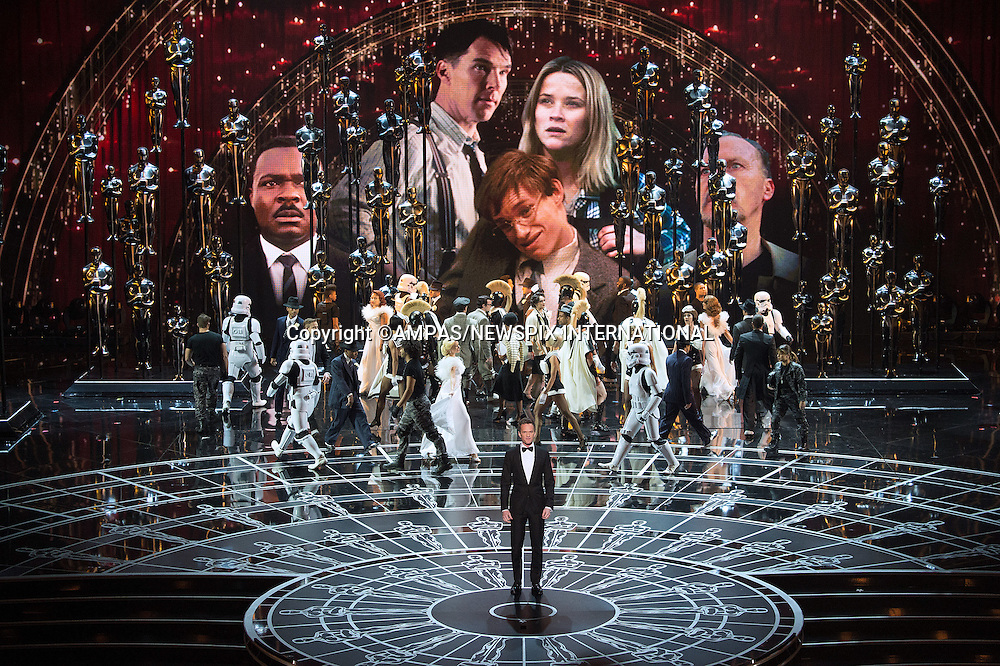 22.02.2015; Hollywood, California: 87TH OSCARS - LADY GAGA, RITA ORA, JENNIFER HUDSON AND JOHN LEGEND<br />