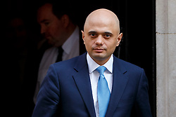 © Licensed to London News Pictures. 05/04/2016. London, UK. Business Secretary SAJID JAVID attending a meeting to discuss potential buyers of Tata Steel plants with Prime Minister David Cameron in Downing Street on Tuesday, 5 April 2016. Photo credit: Tolga Akmen/LNP