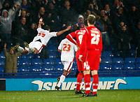 Shefki Kuqi .( Palace ).celebrates his goal. Crystal Palace Vs Nottingham Forest at Selhurst Park Coca Cola Championship.  28/10/2008. Credit Colorsport / Kieran Galvin