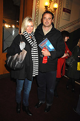 Presenter JAMIE THEAKSTON and his wife SOPHIE at the gala night of Varekai by Cirque du Soleil at The Royal Albert Hall, London on 8th January 2008.<br />