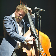FAIRFAX, VA - February 13th,  2013 - Ted Dwayne of British folk outfit Mumford & Sons performs at the Patriot Center in Fairfax, VA.  The band's sophomore album, Babel, debuted at number one on both the UK and US album charts and recently won the 2013 Grammy for Album of the Year. (Photo by Kyle Gustafson/For The Washington Post)