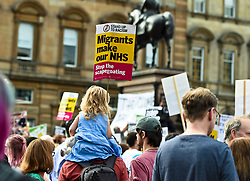Protest in Glasgow against Donald Trump. Demonstrators attend rally in George Square, Glasgow in protest against the visit to Scotland of American President Donald Trump. Angie Isac | EEm, Friday 13 July 2018