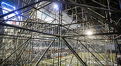 04.02.2016 , Olympiaworld, Innsbruck, AUT, Air and Style, Innsbruck, Probesprünge, im Bild die Stahlkonstruktion // the steel construction during first trail jumps on the new ramp for the Air and Style Festival at the Olympiaworld in Innsbruck, Austria on 2016/02/04. EXPA Pictures © 2016, PhotoCredit: EXPA/ Jakob Gruber