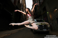 Cortlandt Alley New York City- Dance As Art Photography Project with Xiaoxiao Cao