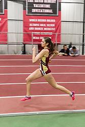 Boston University Multi-team indoor track & field, women 4x400 meter relay, heat 2. Boston College