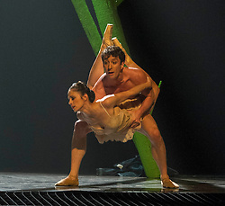 Pictured: Tobias Batley and Martha Leebolt,<br /> <br /> Dancers Tobias Batley and Martha Leebolt, who take the lead roles in 1984,  performed in full costume ahead of the premier of the ballet in the Festival Theatre, Edinburgh. 31 March 2016 tonight. The ballet runs until Saturday 2 April.<br /> <br /> Ger Harley   Edinburghelitemedia.co.uk