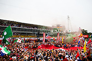 September 4, 2016: Podium ceremony at Monza, Nico Rosberg  (GER), Mercedes , Lewis Hamilton (GBR), Mercedes, Sebastian Vettel (GER), Ferrari , Italian Grand Prix at Monza