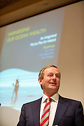 31/07/2012. REPRO FREE FIRST USE.  The Taoiseach Enda Kenny, TD,launched a Government plan to double the value of Ireland's ocean wealth to 2.4% of GDP by 2030 and increase the turnover from our ocean economy to exceed ?6.4bn by 2020. The report, 'Harnessing Our Ocean Wealth - An Integrated Marine Plan for Ireland' was launched at the Marine Institute, Galway. Picture :Andrew Downes.
