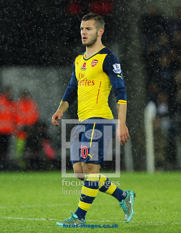 Jack Wilshere of Arsenal during the Barclays Premier League match at the Liberty Stadium, Swansea<br /> Picture by Tom Smith/Focus Images Ltd 07545141164<br /> 09/11/2014