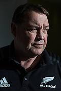 London, England, Uk, November 8 2018 - Portrait of Steve Hansen, New Zealand rugby union coach and former rugby union player, 2 days before England-NZ Autumn test match in London.