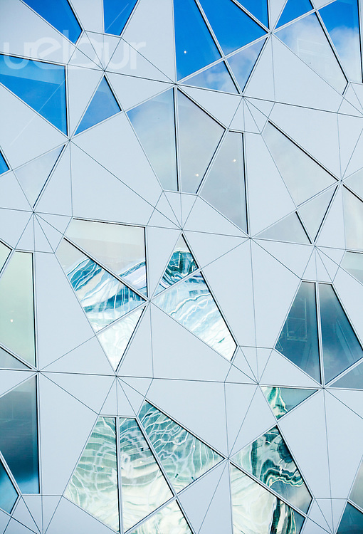 Fasade på Deloitte-bygget tegnet av Snøhetta i Bjørvika