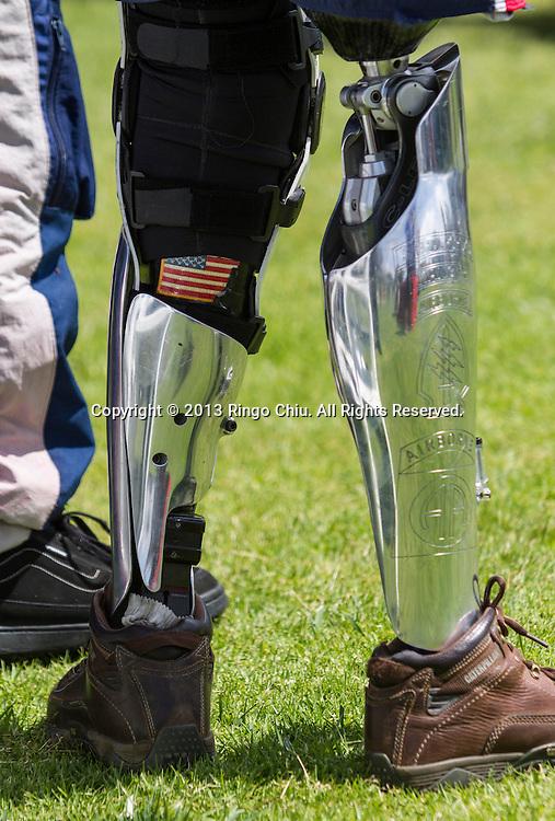 Sgt. First Class Dana Bowman attends the Memorial Day Observance Monday, May, 27, 2013, at Green Hills Memorial Park in Rancho Palos Verdes, California.(Photo by Ringo Chiu/PHOTOFORMULA.com).