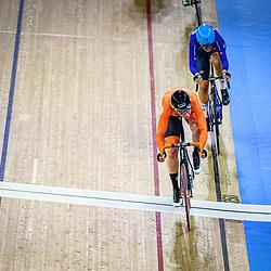 WILD Kirsten ( NED ) - Netherlands - CONFALONIERI Maria Giulia ( ITA ) – Team Italy – Querformat - quer - horizontal - Landscape - Event/Veranstaltung: UCI Track Cycling World Championships 2020 – Track Cycling - World Championships - Berlin - Category/Kategorie: Cycling - Track Cycling – World Championships - Elite Women - Location/Ort: Europe – Germany - Berlin - Velodrom Berlin - Discipline: Points Race - Distance: 25 km - Date/Datum: 01.03.2020 – Sunday – Day 5 - Photographer: © Arne Mill - frontalvision.com