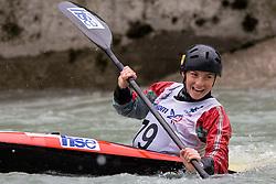 Eva Tercelj of KKK Ljubljana competes in the Women's Kayak K-1 at kayak & canoe slalom race on May 9, 2010 in Tacen, Ljubljana, Slovenia. (Photo by Vid Ponikvar / Sportida)
