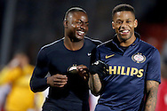 Onderwerp/Subject: Willem II - Eredivisie<br /> Reklame:  <br /> Club/Team/Country: 1<br /> Seizoen/Season: 2012/2013<br /> FOTO/PHOTO: Jeremain LENS (R) of PSV and Jetro WILLEMS (L) of PSV celebrating after the match ( 1 - 3 ). (Photo by PICS UNITED)<br /> <br /> Trefwoorden/Keywords: <br /> #02 #21 $94 &plusmn;1355239962240 &plusmn;1355239962240<br /> Photo- &amp; Copyrights &copy; PICS UNITED <br /> P.O. Box 7164 - 5605 BE  EINDHOVEN (THE NETHERLANDS) <br /> Phone +31 (0)40 296 28 00 <br /> Fax +31 (0) 40 248 47 43 <br /> http://www.pics-united.com <br /> e-mail : sales@pics-united.com (If you would like to raise any issues regarding any aspects of products / service of PICS UNITED) or <br /> e-mail : sales@pics-united.com   <br /> <br /> ATTENTIE: <br /> Publicatie ook bij aanbieding door derden is slechts toegestaan na verkregen toestemming van Pics United. <br /> VOLLEDIGE NAAMSVERMELDING IS VERPLICHT! (&copy; PICS UNITED/Naam Fotograaf, zie veld 4 van de bestandsinfo 'credits') <br /> ATTENTION:  <br /> &copy; Pics United. Reproduction/publication of this photo by any parties is only permitted after authorisation is sought and obtained from  PICS UNITED- THE NETHERLANDS