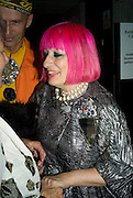 ZANDRA RHODES, The Hayward Gallery 40th birthday Gala. hayward Gallery. South Bank. 9 July 2008 *** Local Caption *** -DO NOT ARCHIVE-© Copyright Photograph by Dafydd Jones. 248 Clapham Rd. London SW9 0PZ. Tel 0207 820 0771. www.dafjones.com.