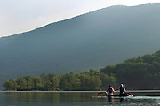 Canoeing on Lake Dunmore, Salisbury, Vermont.