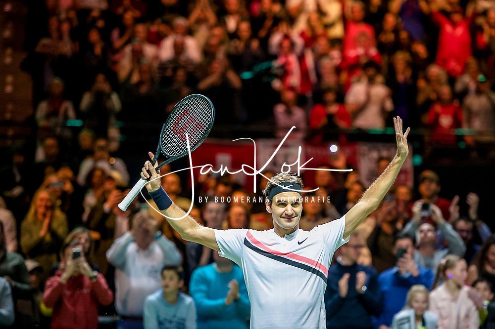 ROTTERDAM - 18-02-2018, Roger Federer wint 45e editie ABN AMRO WTT, &copy; Jan Kok - Boomerang Fotografie, <br /> <br /> <br /> <br /> foto/credit: Jan Kok