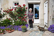 May 30, 2019, Turqueville, Normandy, France.<br /> Denise Leconte (92) was 17 years old during the landing. She remembers the fighting, the horrors she has seen.<br /> 30 Mai 2019, Turqueville, Normandie, France. Denise Leconte (92) avait 17 ans lors du débarquement. Elle se souvent des combats, des horreurs qu'elle a vues.