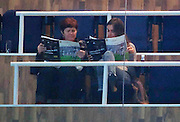 17.NOVEMBER.2012. MADRID<br /> <br /> MOTHER OF CRISTIANO RONALDO DOLORES DOS SANTOS AVEIRO AND HIS GRILFRIEND RUSSIAN MODEL IRINA SHAYK SPEND THE TIME USING SIGN LANGUAGE AS THEY WATCH REAL MADRID PLAY ATHLETICO BILBAO AT THE ESTADIO SANTIAGO BERNABEU IN MADRID, SPAIN.<br /> <br /> BYLINE: EDBIMAGEARCHIVE.CO.UK<br /> <br /> *THIS IMAGE IS STRICTLY FOR UK NEWSPAPERS AND MAGAZINES ONLY*<br /> *FOR WORLD WIDE SALES AND WEB USE PLEASE CONTACT EDBIMAGEARCHIVE - 0208 954 5968*