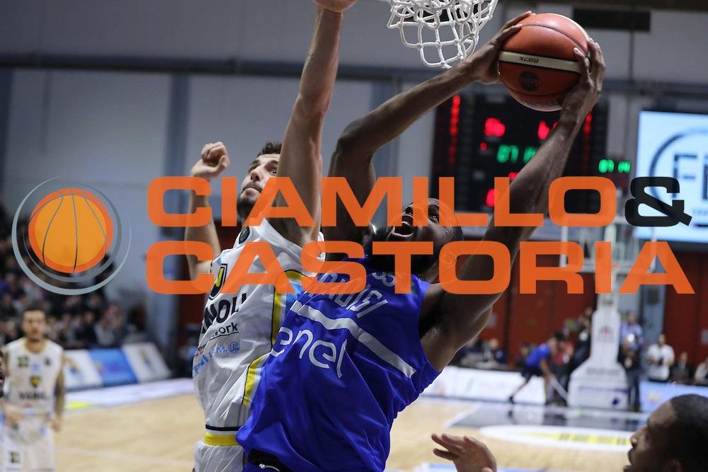 Agbelese Danny<br /> Vanoli Cremona - Enel Brindisi<br /> Lega Basket Serie A 2016/2017<br /> Cremona 07/11/2016<br /> Foto Ciamillo-Castoria