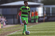 Forest Green Rovers Liam Shephard(2) on the ball during the EFL Sky Bet League 2 match between Forest Green Rovers and Milton Keynes Dons at the New Lawn, Forest Green, United Kingdom on 30 March 2019.
