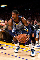 06 November 2009: Guard OJ Mayo of the Memphis Grizzles prepares to drive to the basket against the Los Angeles Lakers during the first half of the Lakers 114-98 victory over the Grizzles at the STAPLES Center in Los Angeles, CA.