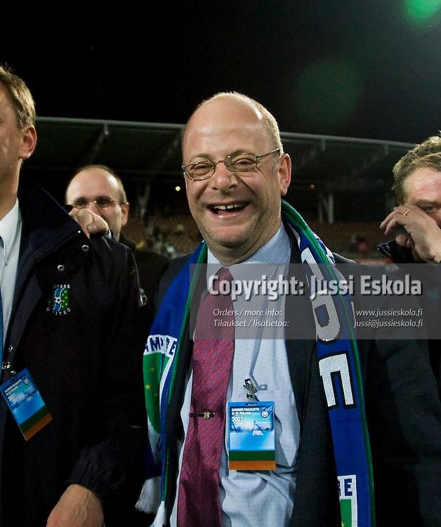 TamU:n varapj Tim Rowe. Tampere United - Honka - Suomen Cupin finaali 11.11.2007. Photo: Jussi Eskola