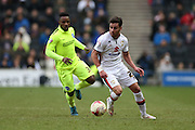 Milton Keynes Dons defender George Baldock (21) during the Sky Bet Championship match between Milton Keynes Dons and Brighton and Hove Albion at stadium:mk, Milton Keynes, England on 19 March 2016.