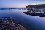 Dusk at Curio Bay, Catlins, New Zealand
