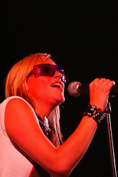 Natalie Appleton, of The Appeltons. Sunday at the King Tuts Hut, T in the Park, 2003..Pic ©2010 Michael Schofield. All Rights Reserved.