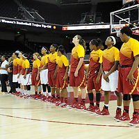 USC W BASKETBALL TIP OFF