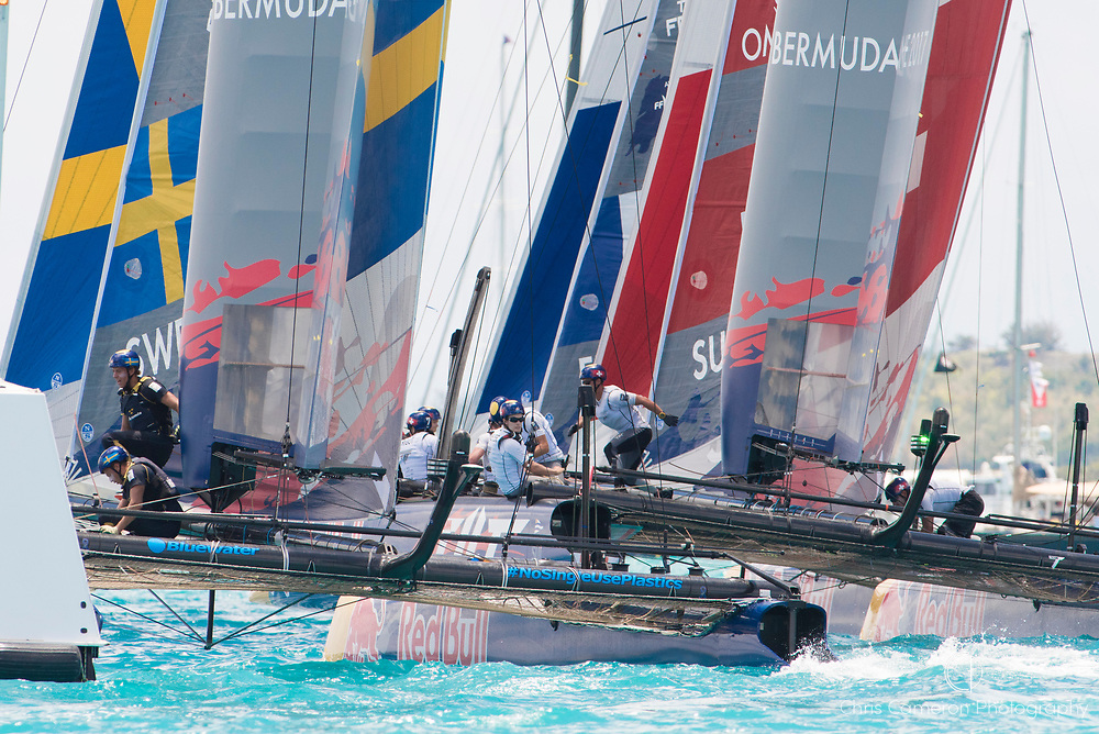The Great Sound, Bermuda, 20th June 2017, Red Bull Youth America's Cup Finals.Race one.