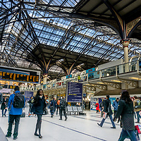 The interior of London Liverpool Street station in UK