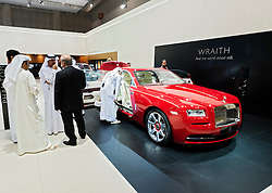 Rolls Royce Wraith  the Dubai Motor Show 2013 United Arab Emirates